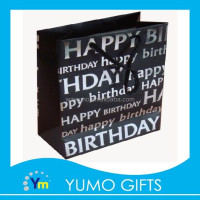 Wenzhou factory happy birthday gift paper bag with hot stamping