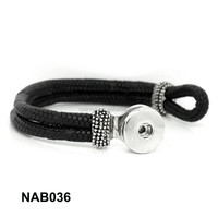 Alibaba China PU Leather Punk Buckle Bracelet Jewelry Craft Snaps fastener button bead NAB036