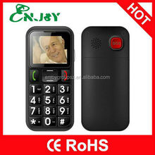 Enjoy w60 1.77inch bluetooth bar TFT dual sim sos button senior old man phone