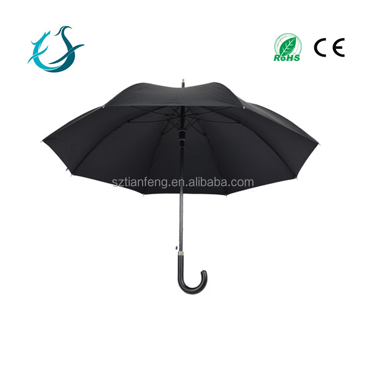 Best selling simple design black top quality promotional fashion umbrella