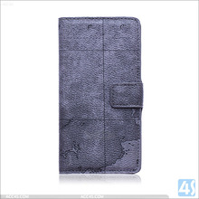 military map case for sony Xperia Z4, wallet leather phone case for sony z4