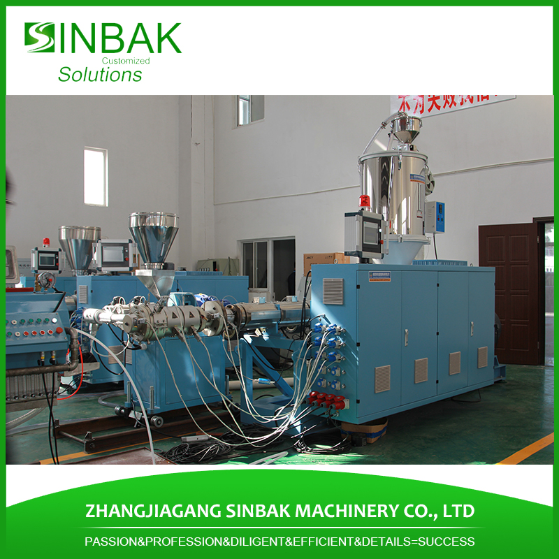 Plastic pvc pe ppr pipes extrusion making machine equipments producing