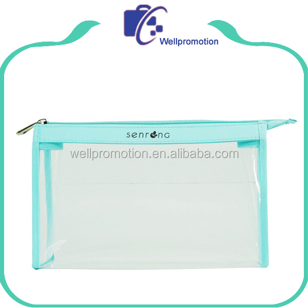 Fashion cheap clear cosmetic make up bag for women
