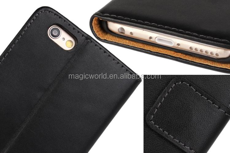 High Quality Protective Flip Genuine Leather Case For Iphone 7 7plus