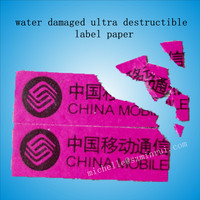 custom order high security water damaged mobile phone warranty sticker
