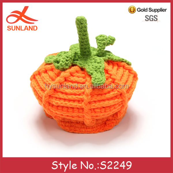 new halloween winter handmade beanie hats knitted pumpkin crochet baby patterns for sale