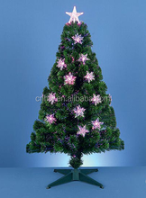 180cm/6FT Pink Purple Fibre Optic Christmas Tre, Indoor Tree Christmas With Plastic Pot