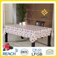 PVC easter plastic table cloth factory
