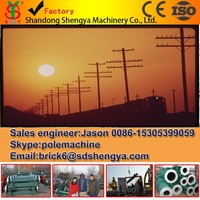 Concrete power pole machines , pre-stressed spun concrete electric pole factory