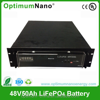 Rechargeable lithium battery for Telcom/UPS/ESS lifepo4 battery48V50Ah