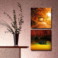 Hot sale Autumn picture to custom canvas print for vestibule