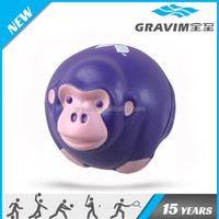 round shape monkey antistress ball,PU stress monkey