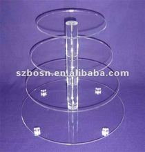 Four-tier Acrylic Cupcake Stand with Round Tubes