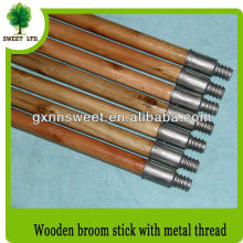 Wood Mop Handle with Metal Screw Cap