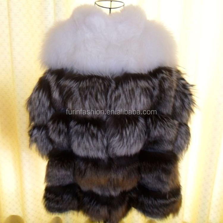 New Product Luxurious Fashion Winter Red Fox Fur Coat for Young Sex Girls