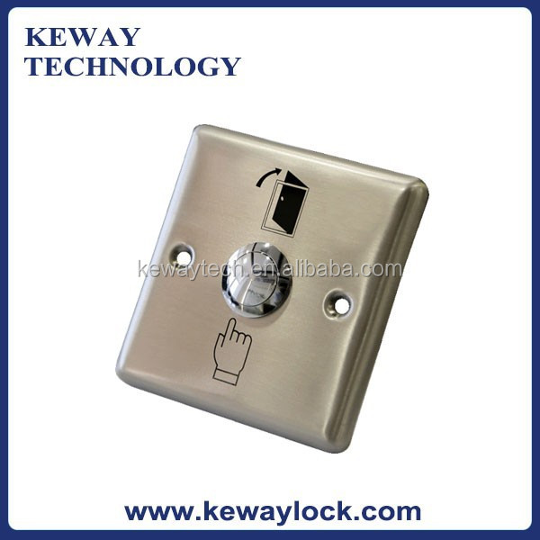 Hot Selling Door Release Push Button ABK-801B Stainless Steel Exit Button Panel