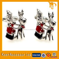 Santa Claus model cufflinks for men