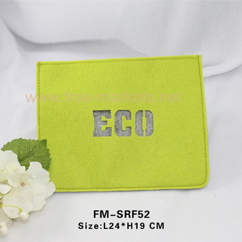 High class recycled felt mobile phone Pad bags wholesale