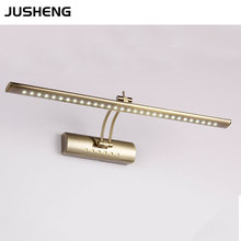 Modern 9W 70cm Golden Rock Arm indoor bathroom mirror light led wall lamp lighting 100-240V AC