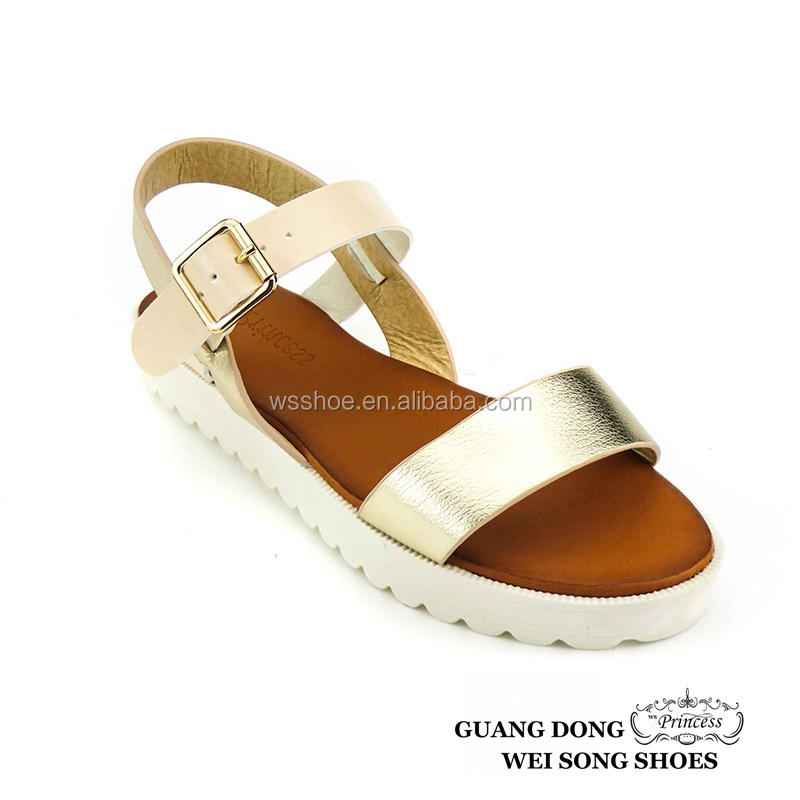 Wholesale Cheap Fashion Simple Generous China Supplier Flat Sandal For Women