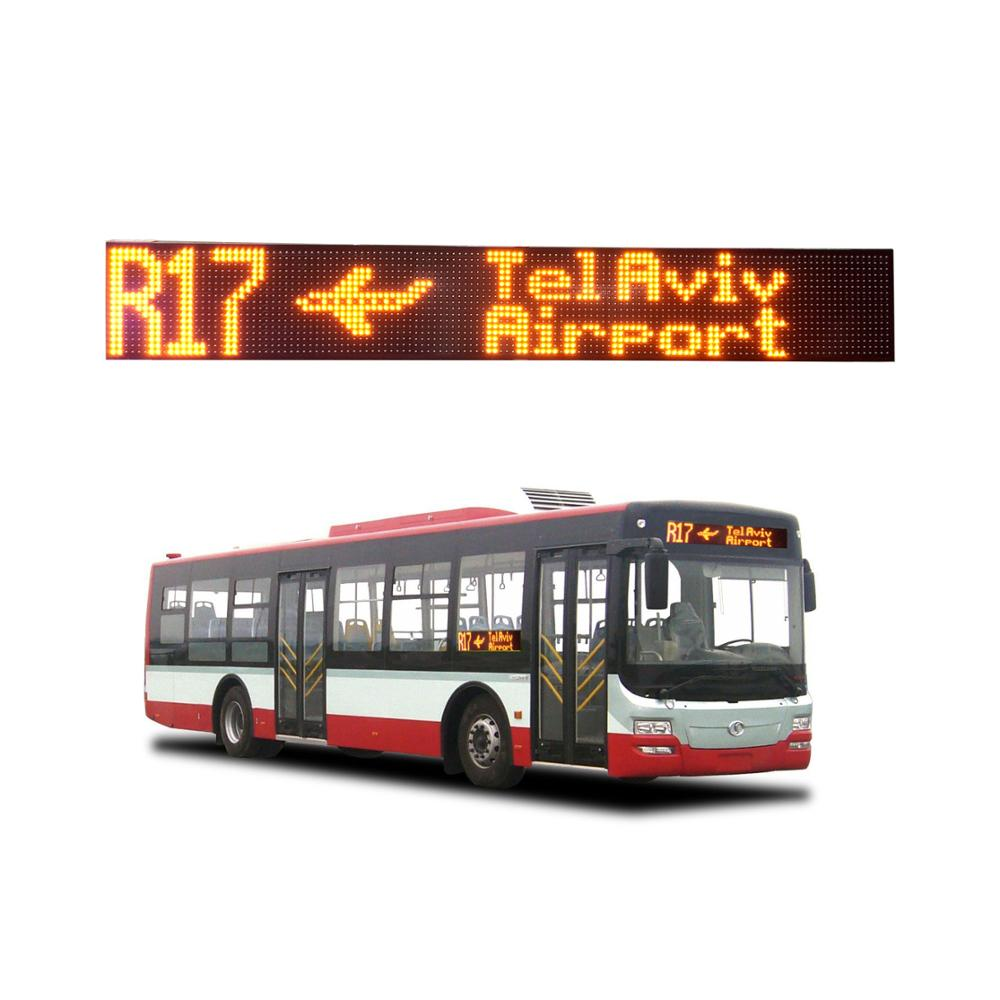 <strong>P10</strong>/P8/P7.62 waterproof multiple lines Electronic signs for buses display route stop info vehicle system