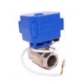 DN15 brass ss304 quick open CWX-15Q 3S 2w low power 2 way 12v motorised valve with electric actuator