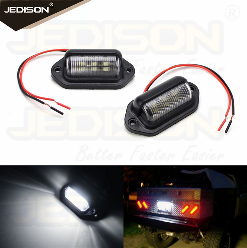 12V White LED Licence Plate Light Rear Tail Lamp For Truck SUV Trailer Van No Free