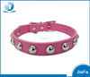 fashion 5colors 4 sizes leather puppy pet dog collar cat neck strap necklace with studded leather puppy pet dog collar