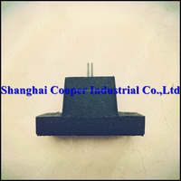 Anti-vibration recycled rubber feet for refrigeration business