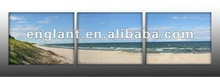Beach photo triptych art prints on canvas