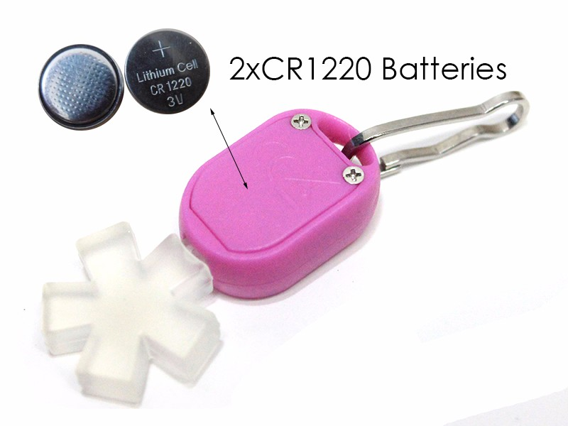 Button Cell Powered 1 LED Easy Zipper Attach LED Light