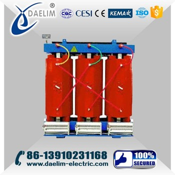 22kv 630kva 3 phase dry type power transformer with ONAN
