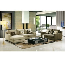 Cheap Teak Wood Sectional Fabric Armrest Sofa Set Designs