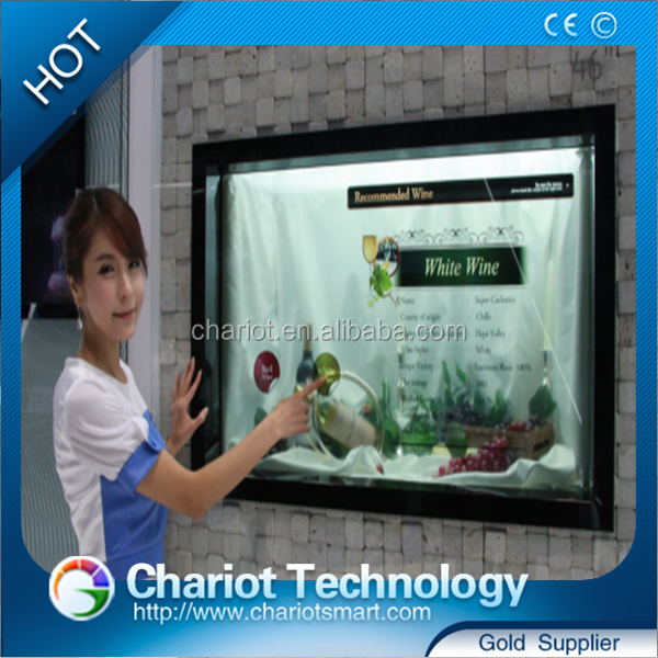 LG/Samsung brand see through lcd for advertising window