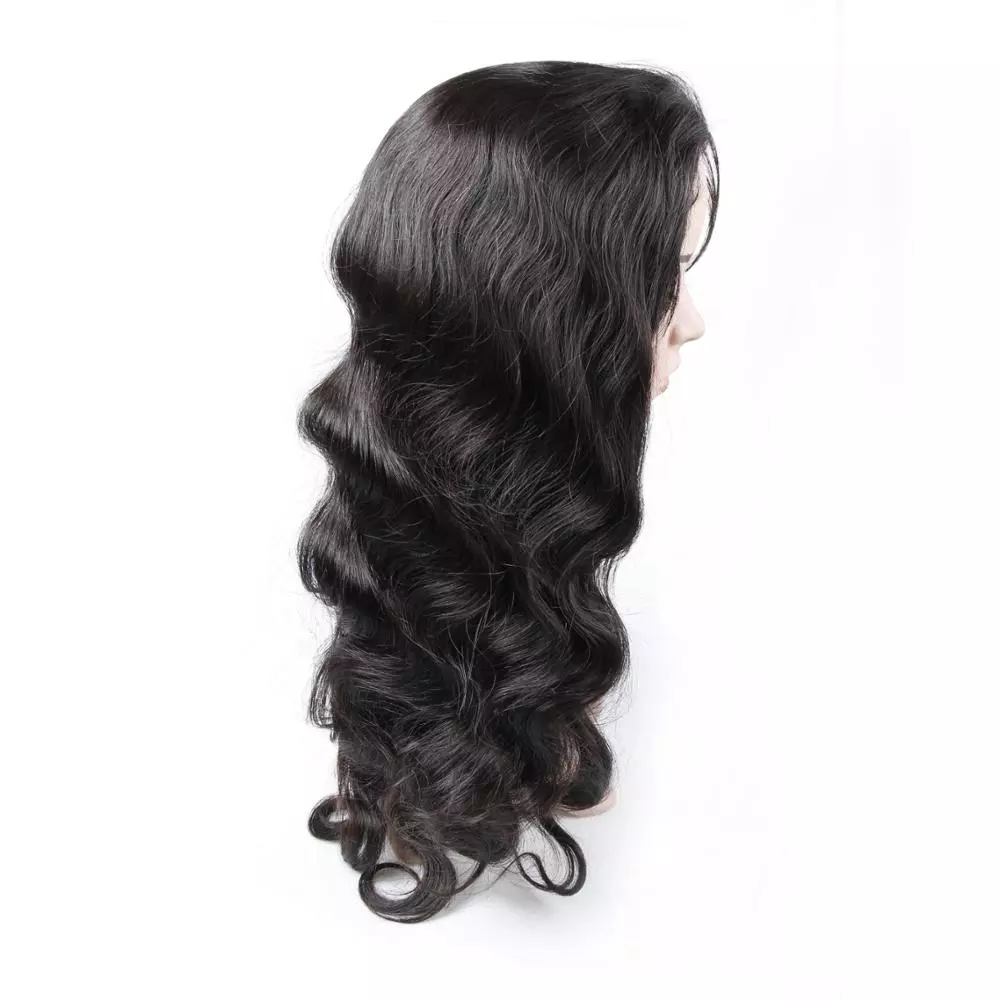 High quality full cuticle aligned 100% virgin remy human hair 40 inch full lace wig