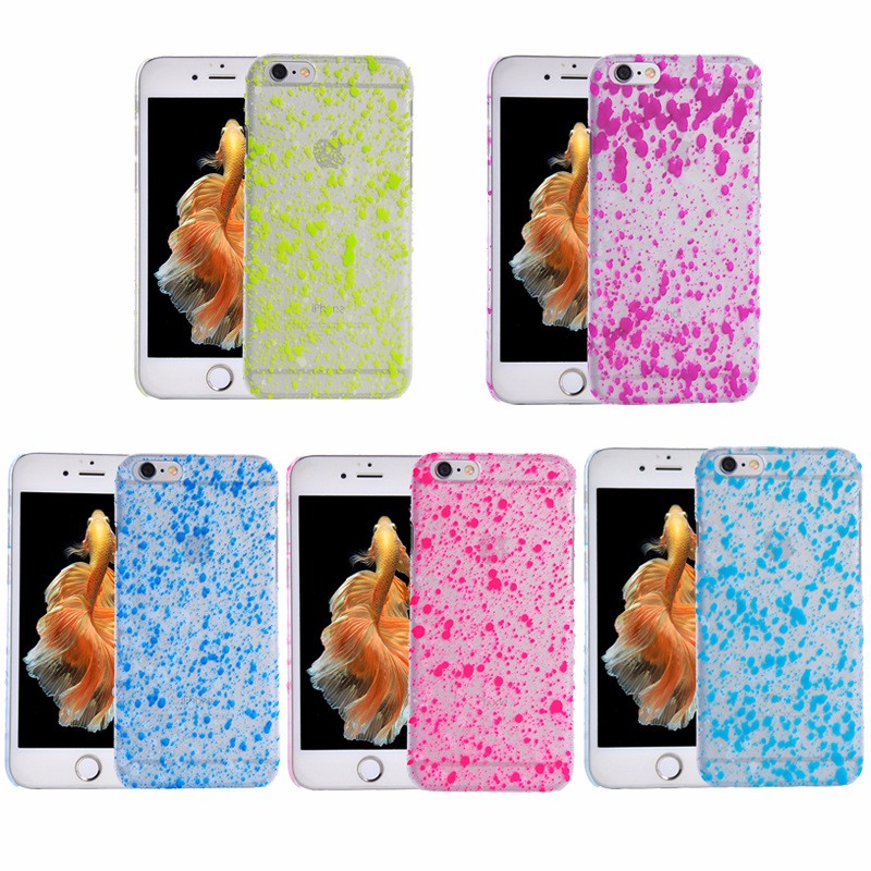 OEM Snow Design Painting Rubberized PC Cell Phone Accessories Clear Mobile Cover for iPhone 6 Lot Wholesale Phone Cases