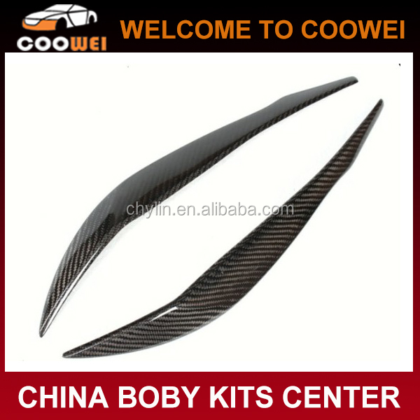 New 3 Series F30 Carbon fiber eyebrows for BMW F30 cars carbon eyelid