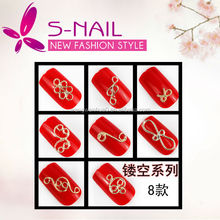New 3d alloy nail art,finger nail jewelry, nail dangle jewelry