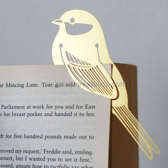 laser cut metal bookmark with cheap price