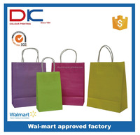 promotional craft paper bag with logo printing