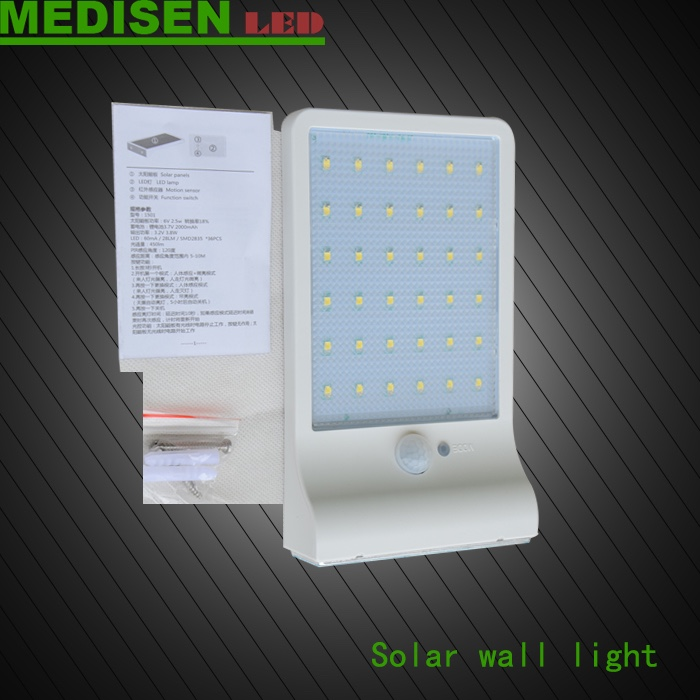 MEDISEN ms-solar walllihgt-3.5No Wiring Exterior Modern Courtyard Wall Lamp,Garden Solor Light