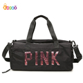 Encai Luggage Duffel Bag Fashion Sports Shoulder Bag Weekend Sequins Decorative Traveling Bag
