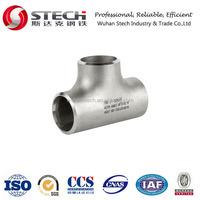 SS304, SS316, SS316L stainless steel equal tee, reducer, elbow, cap, pipe fittings, BW