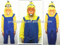 Hot selling popular and cheap soft plush despicable me minion adult costume toy