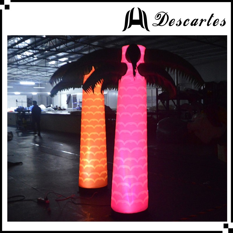 Lighting inflatable Christmas tree/inflatable LED palm tree for party/club decoration