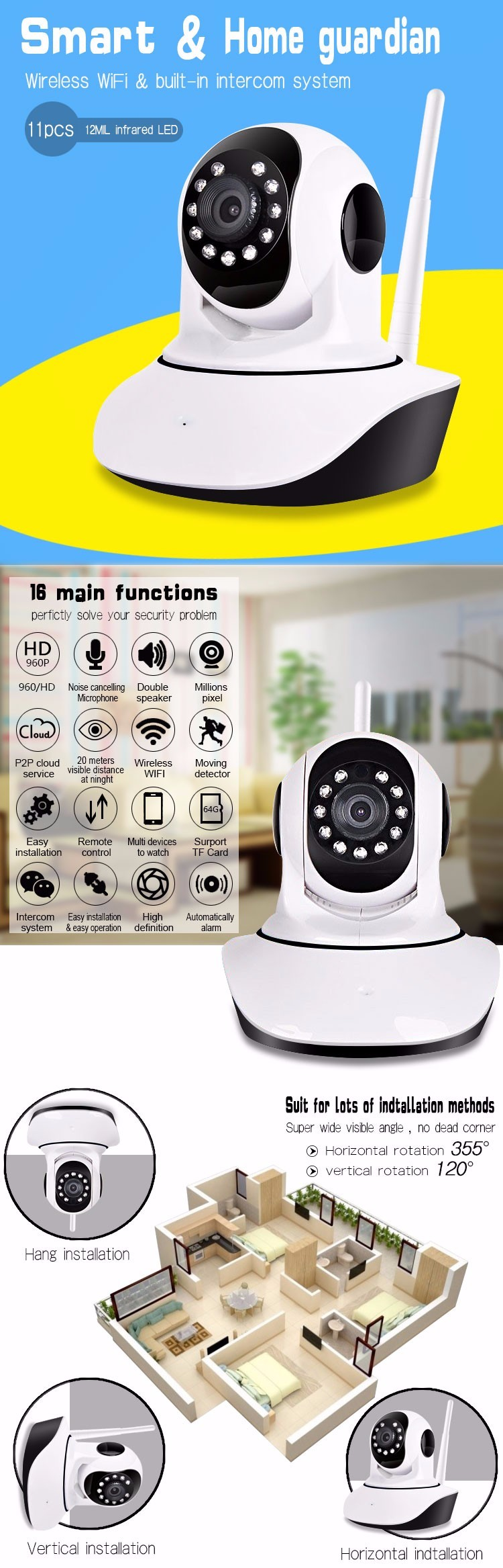 Network P2P CCTV Wireless Wifi IP Camera Prices