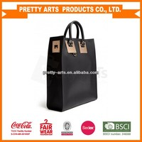 best selling pu leather handle bags customized