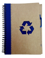 A5 A6 colored paper and Ball Pen into Recycled Spiral Notebook