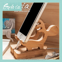 2016 Office Desk Home Table Portable Universal Holder Wooden Phone Stand for iphone
