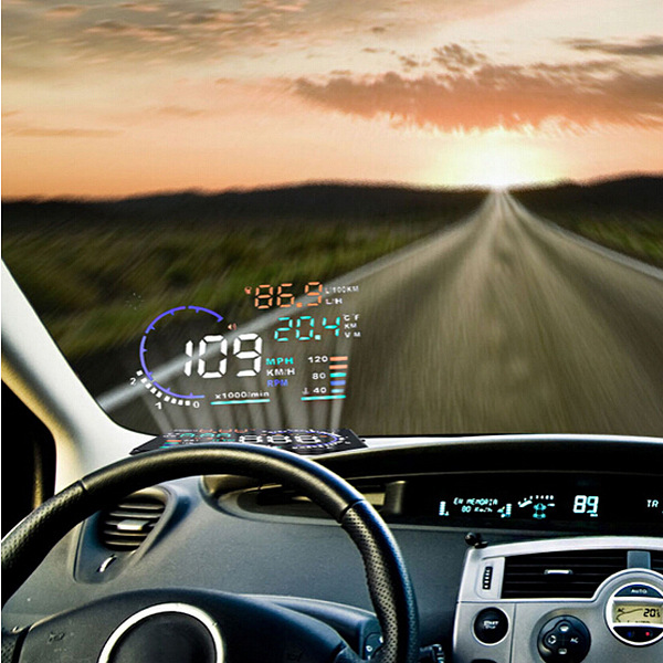 2015 NEWEST 5.5 inchn screen car projector HUD Display Head Up Display System OBD II Speed Monitor